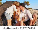 sweet young family resting near ...   Shutterstock . vector #1149577334
