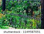 wrought iron gates  ornamental... | Shutterstock . vector #1149587051