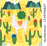 seamless pattern with cute... | Shutterstock . vector #1149596837
