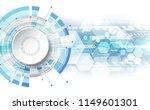 abstract digital technology... | Shutterstock .eps vector #1149601301