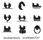 collection of chicken and eggs... | Shutterstock .eps vector #1149603737