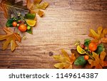 autumn concept with leaves on...   Shutterstock . vector #1149614387