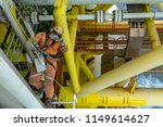 rope access. working at height. ... | Shutterstock . vector #1149614627