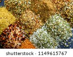 mixed flavoured salts | Shutterstock . vector #1149615767