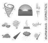 different weather monochrome... | Shutterstock .eps vector #1149617621