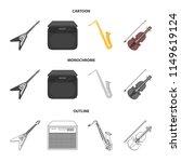 electric guitar  loudspeaker ... | Shutterstock .eps vector #1149619124