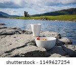breakfast at the shores of loch ... | Shutterstock . vector #1149627254