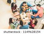 millennials trendy friends... | Shutterstock . vector #1149628154