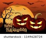happy halloween greeting card...   Shutterstock .eps vector #1149628724