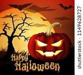 square shape happy halloween...   Shutterstock .eps vector #1149628727