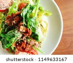 bowl of caesar salad on the... | Shutterstock . vector #1149633167