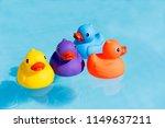 Four Colourful Rubber Ducks  A...