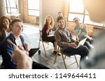 interesting workshop. laughing... | Shutterstock . vector #1149644411