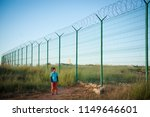 lonely little caucasian kid... | Shutterstock . vector #1149646601