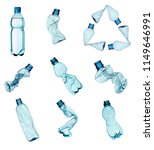 collection of  various plastic... | Shutterstock . vector #1149646991