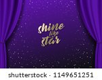 teather stage with blue heavy...   Shutterstock .eps vector #1149651251