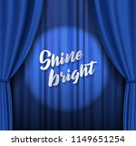 teather stage with blue heavy...   Shutterstock .eps vector #1149651254