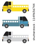 set of side view mini truck... | Shutterstock .eps vector #1149656744