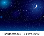space scene with stars and moon ...