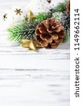 decoration for christmas on the ...   Shutterstock . vector #1149662114