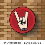 rock sign hand icon logo symbol ... | Shutterstock .eps vector #1149665711