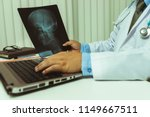 doctor diagnose and analyze on... | Shutterstock . vector #1149667511