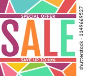 sale banner design template.... | Shutterstock .eps vector #1149669527