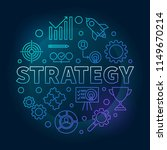 strategy round blue outline... | Shutterstock .eps vector #1149670214