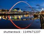 looking across the river tyne...   Shutterstock . vector #1149671237