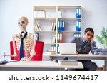 businessman working with... | Shutterstock . vector #1149674417