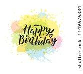 hand sketched happy birthday... | Shutterstock .eps vector #1149676334