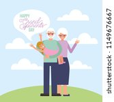 grandparents day card   Shutterstock .eps vector #1149676667