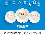 eid al adha mubarak celebration ...   Shutterstock .eps vector #1149679301