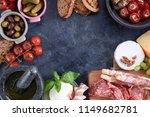 italian antipasti wine snacks... | Shutterstock . vector #1149682781