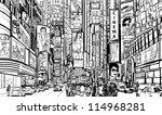 illustration of a street in new ... | Shutterstock .eps vector #114968281