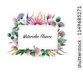 flower frame  wild flowers | Shutterstock . vector #1149685271