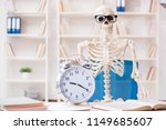 skeleton businessman working in ... | Shutterstock . vector #1149685607