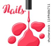 drops of nail polish and brush. ... | Shutterstock .eps vector #1149686711