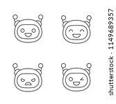 robot emojis linear icons set.... | Shutterstock .eps vector #1149689357