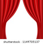 red stage curtain realistic...   Shutterstock .eps vector #1149705137