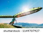 Hang Glider Launch From Top Of...