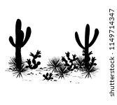 cacti landscape. vector... | Shutterstock .eps vector #1149714347
