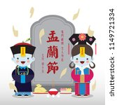 chinese ghost festival or yu... | Shutterstock .eps vector #1149721334