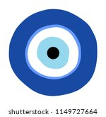 greek evil eye vector  symbol... | Shutterstock .eps vector #1149727664