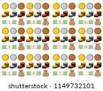 golden silver bronze stack of...   Shutterstock .eps vector #1149732101