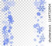 winter snowflakes border trendy ... | Shutterstock .eps vector #1149733904