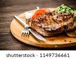 grilled steak with vegetables  | Shutterstock . vector #1149736661