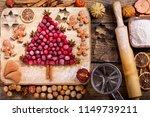 christmas food. ingredients for ... | Shutterstock . vector #1149739211