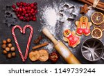 christmas food. homemade...   Shutterstock . vector #1149739244