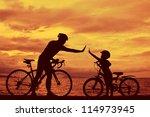 Biker Family Silhouette   Dadd...